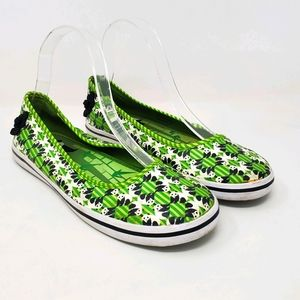 Keds Eleanor Panda Bear Green Slip-on Sneaker